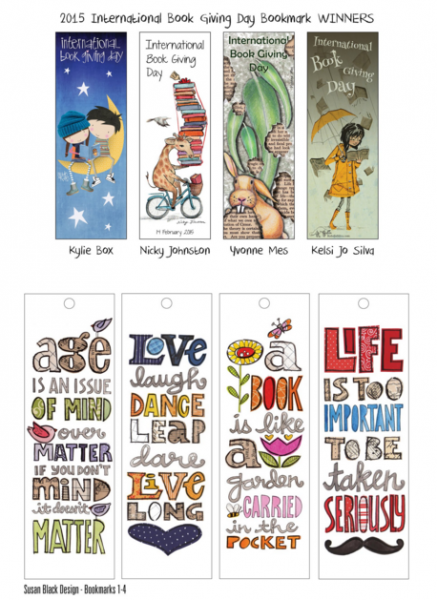 An image of the winners of the IES Huddinge bookmark competition 2015.